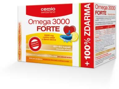 Cemio Omega 3000 Forte s citrusem tbl.60+60 ČR/SK