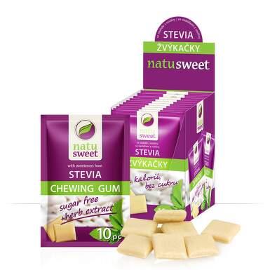Stevia Natusweet žvýkačky 10 sáčků