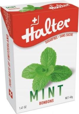 HALTER bonbóny Máta 40g (mint) H200267