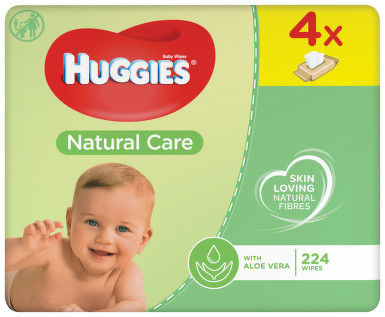 HUGGIES Natural Care Quatro 56x4ks