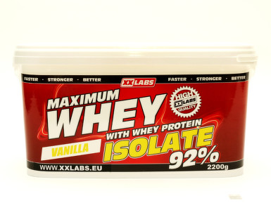 Maximum Whey Protein Isolate 92 2200g vanilka