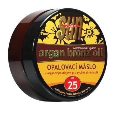 SUN opalovací máslo OF25 s arganovým olejem 200ml