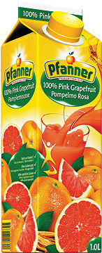 PFANNER Grapefruit růžový 100% 1l