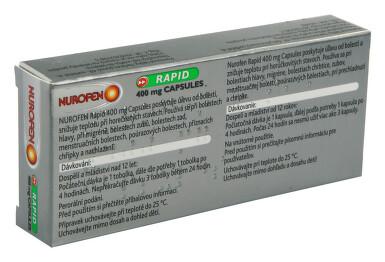 NUROFEN RAPID 400 MG CAPSULES perorální měkké tobolky 10X400MG