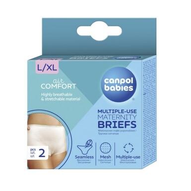 CANPOL Multifunkční kalhotky po porodu 2 ks L/XL