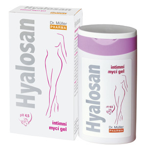 Hyalosan intimní mycí gel 200ml Dr.Müller