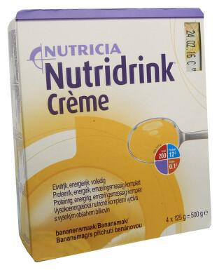 NUTRIDRINK CREME S PŘÍCHUTÍ BANÁNOVOU perorální roztok 4X125GM