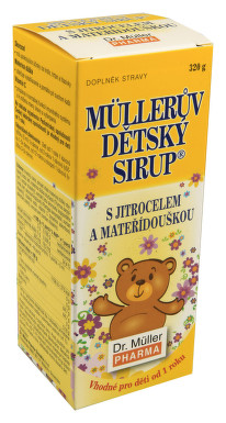 Müllerův dětský sirup s jitrocelem a mateříd.320g