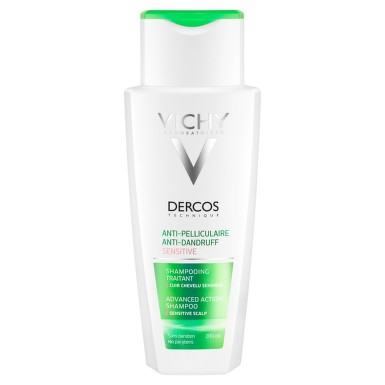 VICHY DERCOS Šampon proti lupům na citlivou pokožku 200 ml