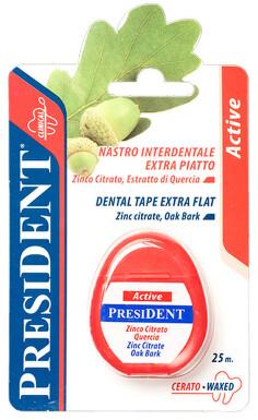 PresiDENT Active Dent.niť vosk. extra plochá 25m