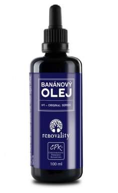 Renovality masážní a těl. olej Banán 100ml pipetka
