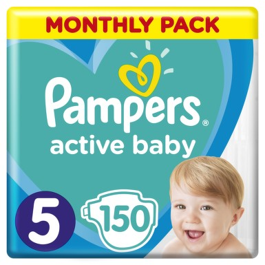 Active Baby Pampers Pleny 5 Junior 11-18kg 150 ks