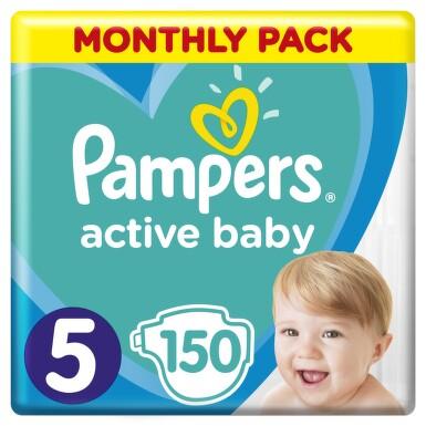 Active Baby Pampers Pleny 5 Junior 11-18kg 150 ks