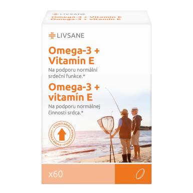 LIVSANE Omega3 rybí olej + Vitamin E tablety 60 ks