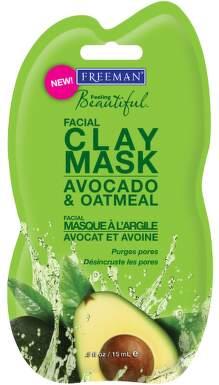 FREEMAN Pleť.maska jílová s avokádem a ovsem 15ml