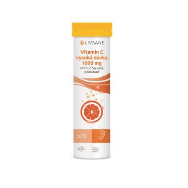 LIVSANE Vitamin C 1000mg šum.tbl. vys.dávka 20ks