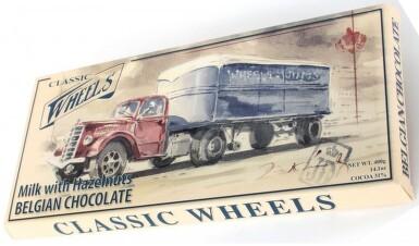 Čokoláda Belgická Classic Wheels ml.s lísk.oř.400g