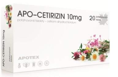 APO-CETIRIZIN 10MG potahované tablety 20
