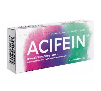 ACIFEIN 250MG/250MG/50MG neobalené tablety 10