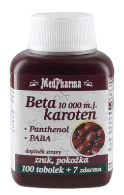 MedPharma Beta karot.10 000 m.j.Pant.+PABA tob.107