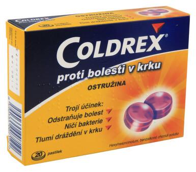 COLDREX PROTI BOLESTI V KRKU OSTRUŽINA orální podání pastilka 20