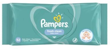 PAMPERS vlhčené ubrousky Fresh Clean 52ks