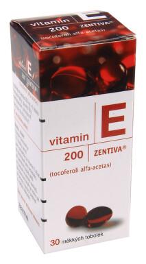 VITAMIN E 200-ZENTIVA perorální měkké tobolky 30X200MG