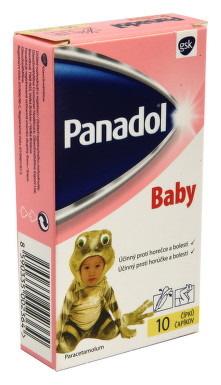 PANADOL BABY ČÍPKY rektální čípek 10X125MG