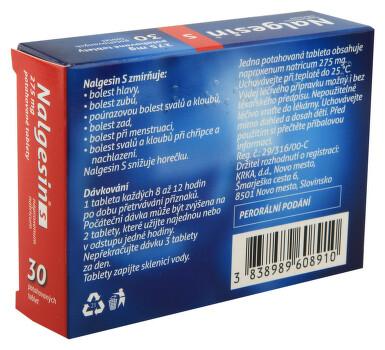 NALGESIN S perorální potahované tablety 30X275MG I