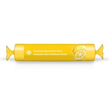 LIVSANE Bonbóny Hroznový cukr rolka citron 44g