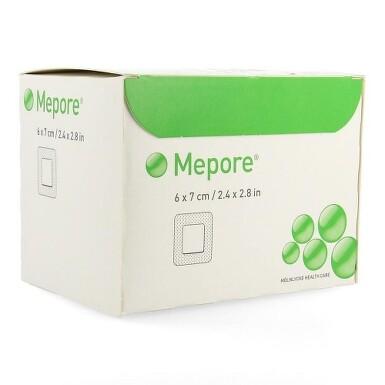 MEPORE 6X7 CM, 60 KS, SAMOLEPÍCÍ ABSORPČNÍ KRYTÍ, STERILN