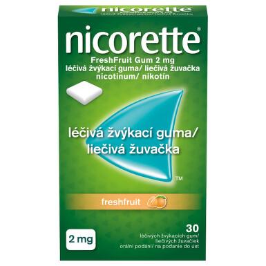NICORETTE FRESHFRUIT GUM 2 MG orální podání léčivé žvýkací gumy 30X2MG