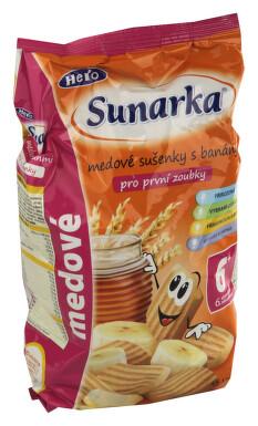 Sunarka dětské sušenky s medem a banánem 175g