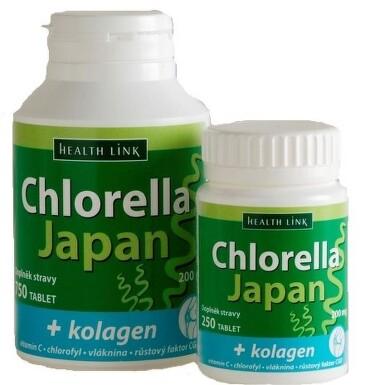 Chlorella Japan + kolagen tbl.750
