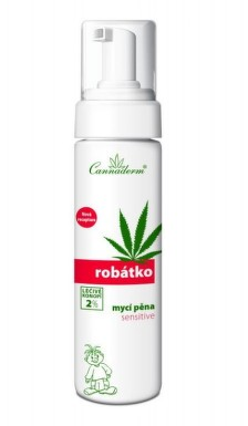 Cannaderm Robátko mycí pěna Sensitive 200ml