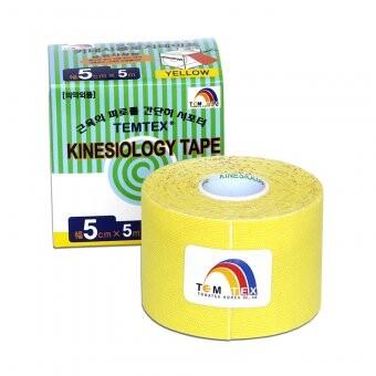 Tejp. TEMTEX kinesio tape žlutá 5cmx5m