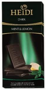 Čokoláda HEIDI Dark Mint & lemon 80g