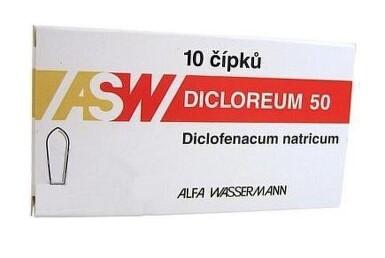 DICLOREUM 50 50MG čípek 10