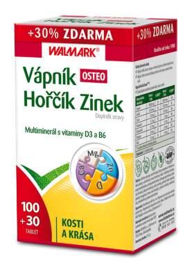WALMARK Váp-Hoř-Zinek Osteo 100+30 promo