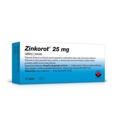 ZINKOROT 25MG neobalené tablety 50