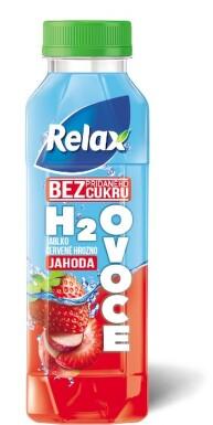 Relax H2Ovoce jablko-čer.hrozno-jahoda 0.4l PET