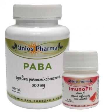 Uniospharma PABA 300 mg tbl.100+ImunoFit tbl.10