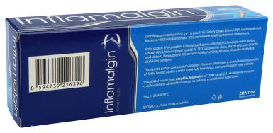 INFLAMALGIN 10 MG/1 G kožní podání gely 1X100GM