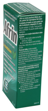 AFRIN 0,5 MG/ML NOSNÍ SPREJ S MENTOLEM nosní podání sprej, roztok 1X15ML/7.5MG
