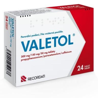 VALETOL perorální neobalené tablety 24