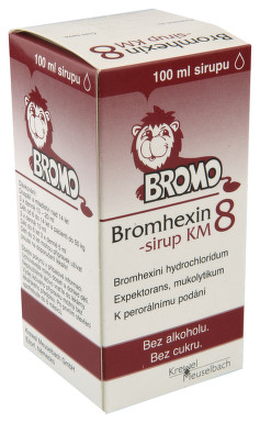 BROMHEXIN 8-SIRUP KM perorální sirup 1X100ML