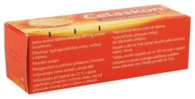 CELASKON 500 MG ČERVENÝ POMERANČ perorální šumivá tableta 10X500MG