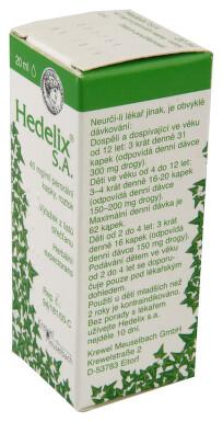 HEDELIX S.A. perorální kapky, roztok 1X20ML