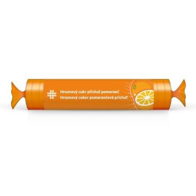 LIVSANE Bonbóny Hroznový cukr rolka pomeranč 44g