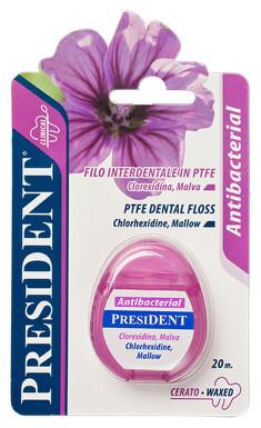 PresiDENT Antibact.dentální niť PTFE voskovaná 20m